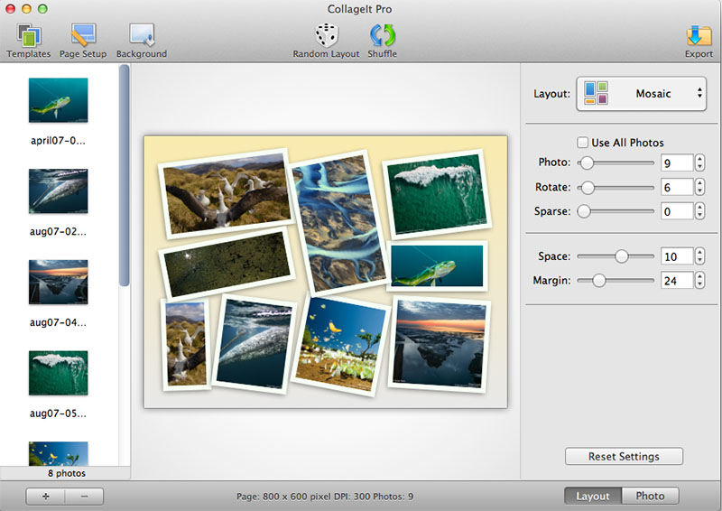 CollageIt for Mac Screenshot