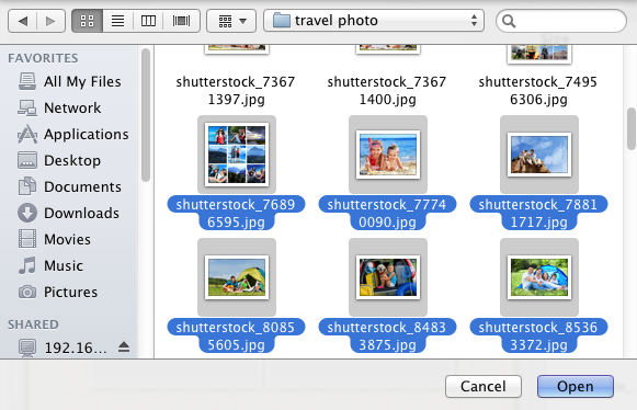 how to add photos to finder on mac